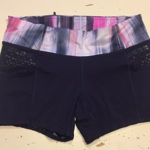 Lululemon Speed tight style shorts  navy 6